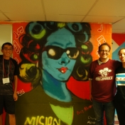 students with art